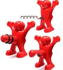 Red Fun Happy Man <b>Plastic Wine</b> Beer Soda Stopper Red <b>Wine</b> ...
