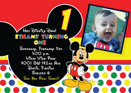 mickey mouse 1st birthday invitations hollowwoodmusic com mickey mouse 1st birthday invitations a classic setting of your winsome birthday 3