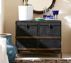 ludlow trunk bar cabinet pottery barn bar trunk furniture