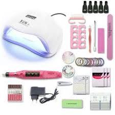 10 Color <b>Nail</b> Gel Varnish <b>Polish Manicure set</b> With <b>UV</b> LED Lamp ...