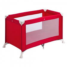 <b>Safety 1st</b> - <b>Soft Dreams</b> Travel Cot - Red Lines