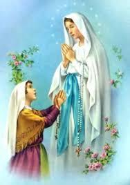Risultati immagini per Santa Bernadette e Maria immacolata immagine