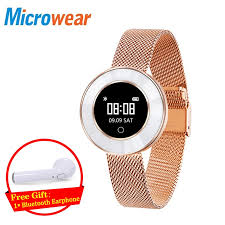 Women Watch Gold Leather Waterproof Luxury Microwear <b>X6</b> Smart ...