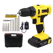 GOXAWEE <b>21V</b>/12V <b>Electric Screwdriver Cordless</b> Electric Mini Drill ...