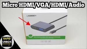 <b>Micro HDMI</b> to HDMI + <b>VGA</b> Converter with Audio - UGREEN ...