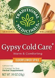 Traditional Medicinals, Organic <b>Gypsy Cold</b> Care, <b>Tea</b> Bags, 16 Ct ...
