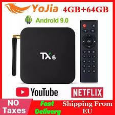 4GB RAM 64GB ROM <b>TX6</b> Mini Smart TV Box <b>Android 9.0</b> Allwinner ...