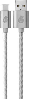 Купить <b>кабель</b> USB 2.0 1.2 м, <b>uBear Cord USB</b>-<b>C</b> USB-A, серый по ...