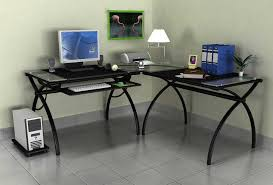 large size of desk appealing cheap computer desk l shape glass top material metal base black glass top corner