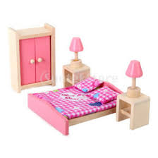 discount dollhouse furniture bedroom wholesale free shipping wooden dollhouse miniature furniture bedroom set affordable dollhouse furniture