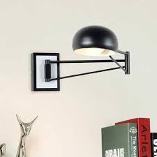 Black <b>Modern</b> Wall Sconce <b>Adjustable</b> arm Metal Wall lamp ...