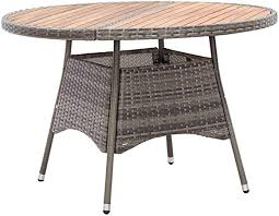vidaXL Acacia Wood <b>Garden Table</b> Water and Weather Resistant ...