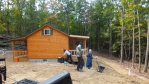 appalachian double porch amish built amish cabin amish built home office