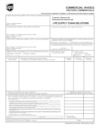 ups customs invoice template invoice template 2017 category