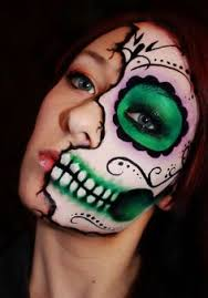 i love this makeup if i could find someone talented enough to do something similar i would love to dress up as a mexican sugar skull