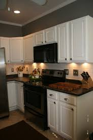 black appliance matte seamless kitchen:  and do subway and white cabinets paint oak cabinets white i dont usually like white cabinets but with the dark appliances and countertops