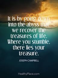 quotes on addiction addiction recovery quotes insight quote on addictions it is by going down into the abyss that we recover the