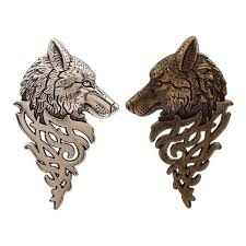 <b>Vintage</b> Personalized <b>Wolf Head</b> Brooch Upscale <b>Fashion</b> Unisex ...