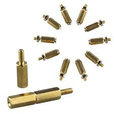 10 Pcs <b>DIY</b> M2.5 <b>11mm</b> Six-angle <b>Brass</b> Cylinder + Screw + Nut Kits ...