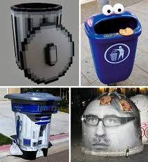 rubbish bin inmotion view trash can art inventive and original i would love to see some of these