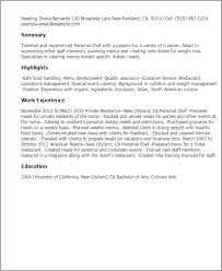 professional personal chef templates to showcase your talent    resume templates  personal chef