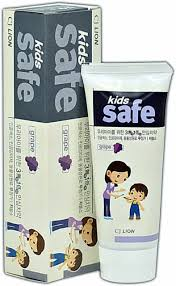 [3p] <b>CJ LION Kids Safe</b> Toothpaste Grapefruit Scent 90g Low ...