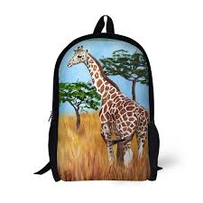 Giraffe Printing <b>Backpack</b> Children School <b>Bags</b> For Teenager Girls ...