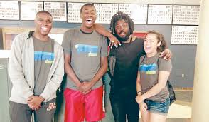 no texting at teen lit con it was all about the books jason reynolds second from right was escorted at teen lit con by sibley senior