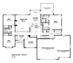 images about House plans on Pinterest   Floor Plans  Ranch    House Plan   Cottage Ranch Traditional Plan   Sq  Ft