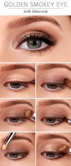 lulus how to golden smokey eyeshadow tutorial at lulus