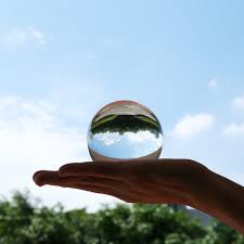 <b>50mm</b>/80mm/<b>100mm</b> Crystal Ball Quartz Glass <b>Transparent</b> Ball ...