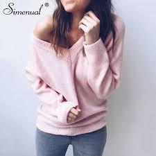 <b>Simenual Backless</b> bow tie women <b>sweaters</b> and pullovers fashion ...