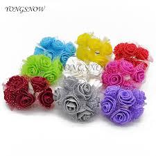 <b>72Pcs</b>/<b>lot</b> 3.5CM Artificial <b>PE Rose</b> Small Foam Flowers Wedding ...