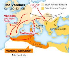 「ヴァンダル族勢力図」の画像検索結果