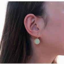 Simple Geometric Metal Mini <b>Wafer</b> Earrings Delicate Small Circle ...