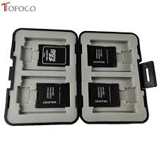 Online Shop <b>TOFOCO</b> Storage Slim Card Holder Box Memory Card ...