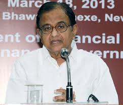 The Union Finance Minister Shri P. Chidambaram