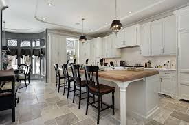 spacious eat in kitchen with custom ceiling lighting long luxury custom kitchen in white with long spacious eat kitchen