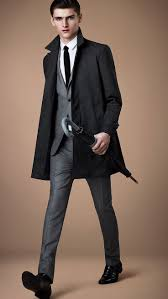 best images about dress for success men boys burberry london grey suit slim black tie and black coat style for men