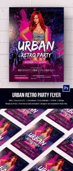 retro style flyer psd format urban retro style flyer party template