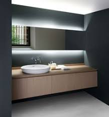 back light wall to wall bathroom lighting modern