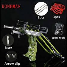 Online Shop <b>Powerful Catapult Full Set</b> Fishing Slingshot Arrow ...