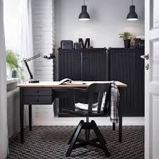 home office design with arkelstorp desk and sideboard in black and wood and feodor swivel ikea galant office planner decoration tips