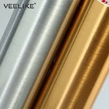 Silver Vinyl <b>Stainless Steel Self adhesive</b> Wallpaper for Kitchen ...