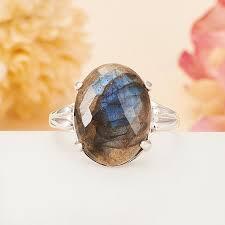 Купить <b>Кольцо лабрадор</b> Мадагаскар огранка (<b>серебро 925</b> пр ...
