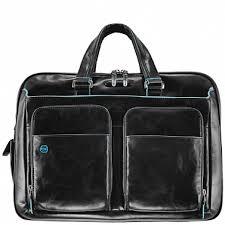 <b>Сумка</b> Piquadro <b>Blue Square</b> CA2765B2/N с двумя ручками / черная