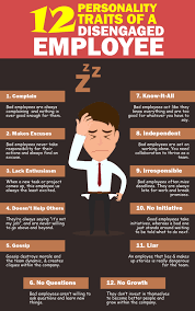 12 signs of disengaged employee visual ly