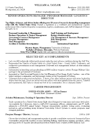 Resume Examples: Military Resume Example Resume Format, Resume ... Military Resume Example for Senior Operations Manager with Selected Key Accomplishment and Career Progression