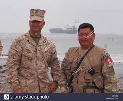 t akr stock photos t akr stock images alamy a usmc sargent and his vian counterpart