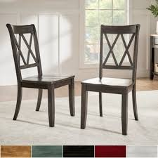 eleanor double x back wood dining chair set of 2 by tribecca home black wood dining room